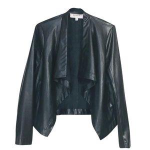 BB Dakota ~ Faux Leather Open Front Pockets Jacket
